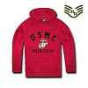 [Rapid Dominance] S45 - Military Fleece Pullover Hoodies. USMC (Cardinal) - S45 USMC Ǯ���� �ĵ� (ī��