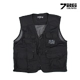 726(726) [726 Gear] Tactical Outdoor Vest (Black) - 726 기어 택티컬 아웃도어 조끼 (블랙)