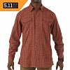 [5.11 Tactical] Flannel L/S Shirt (Ox Blood) - 5.11 ��Ƽ�� �ö��� L/S ���� (OX �?��)