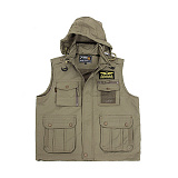 726(726) [726 Gear] Tactical Outdoor Windproof Hood Vest (Coyote) - 726 기어 택티컬 아웃도어 방풍 후드 조끼 (코요테)