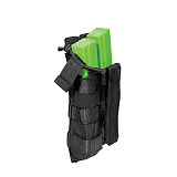 511 택티컬(511 Tactical) [5.11 Tactical] Double MP5 Bungee Cover (Black) - 5.11 택티컬 더블 MP5 번지 커버 (블랙)